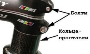 Процесс затягивания руля на велосипеде