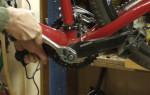 Снятие шатунов на велосипед
