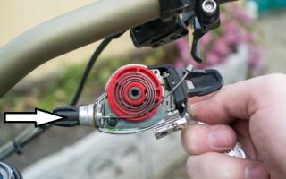 Особенности замены тросика переключателя скоростей на велосипеде