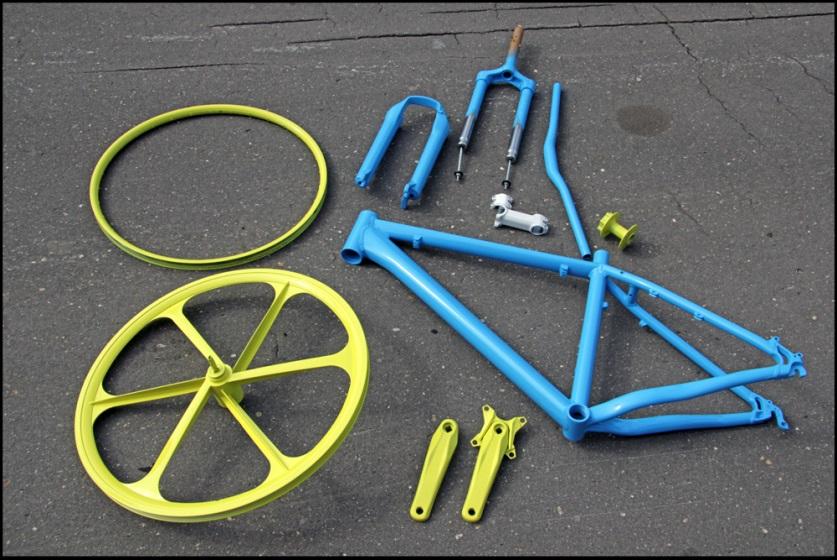 Картинки по запросу покраска велосипеда фото