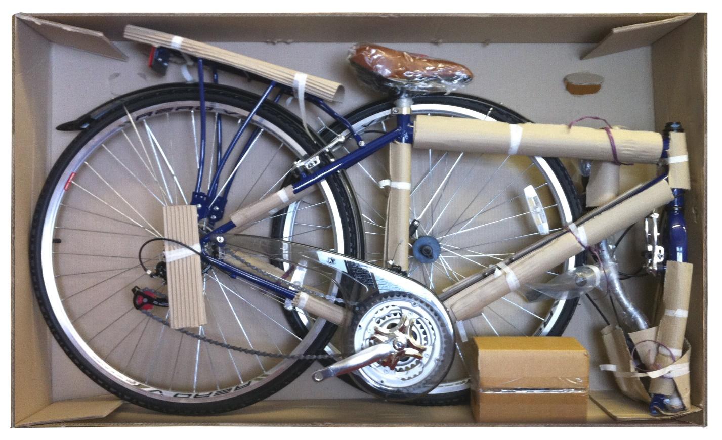 Транспортировка велосипеда в коробке