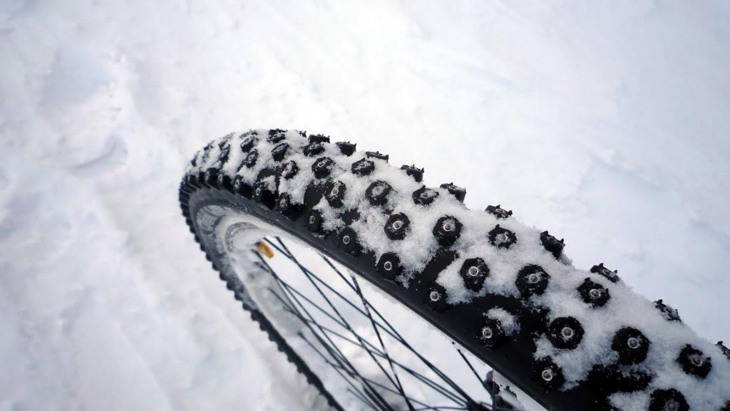 Шипованная резина на велосипед