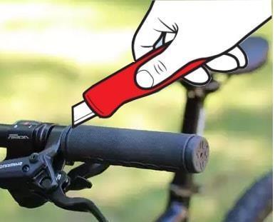 Снять залипшие грипсы