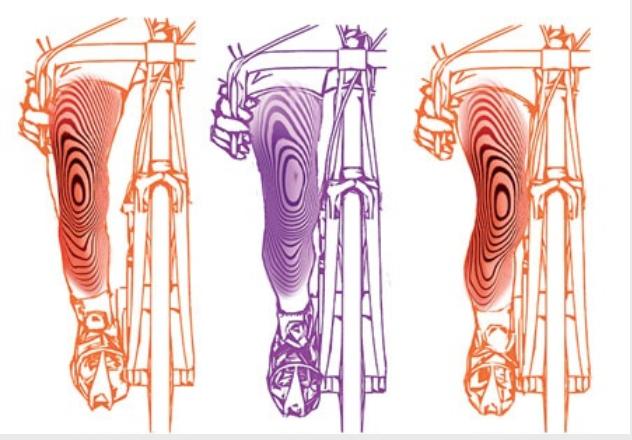 Правильное положение колена