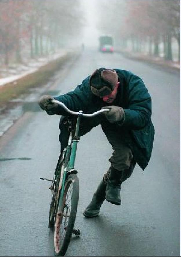 пьяный дед на велосипеде