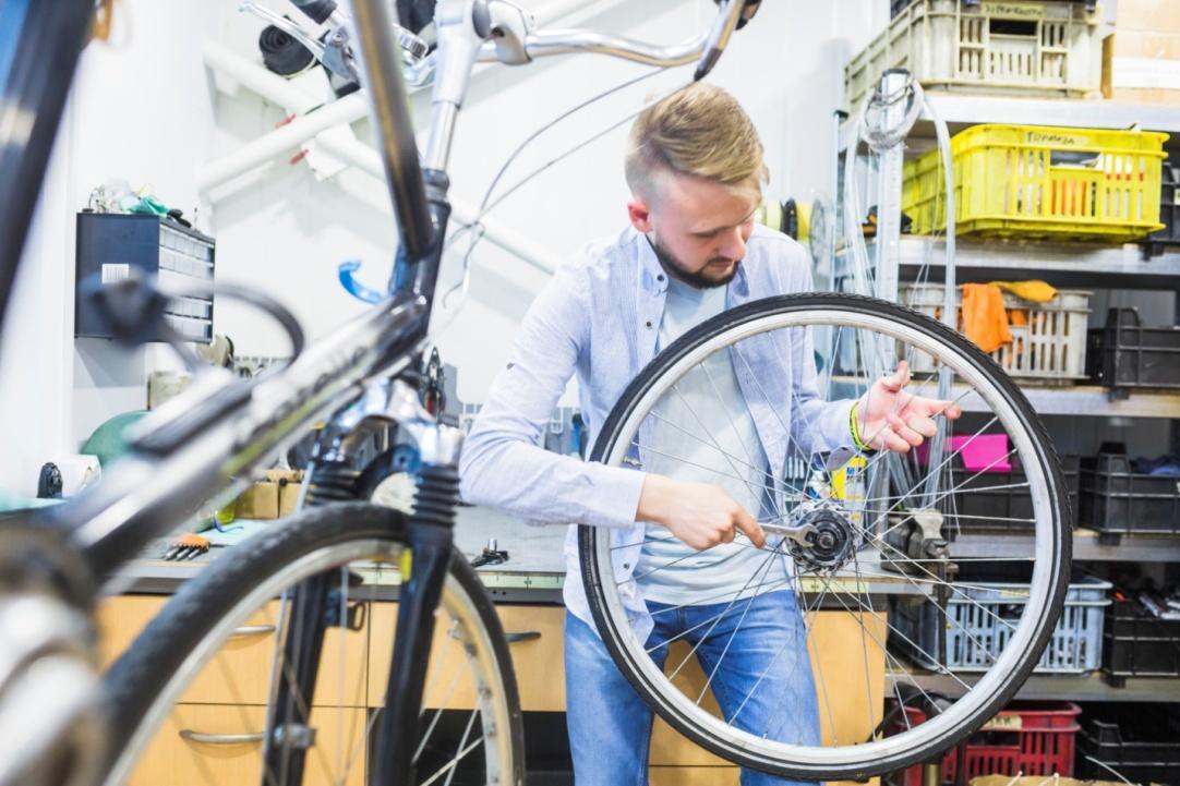 Регулировка заднего колеса на велосипеде
