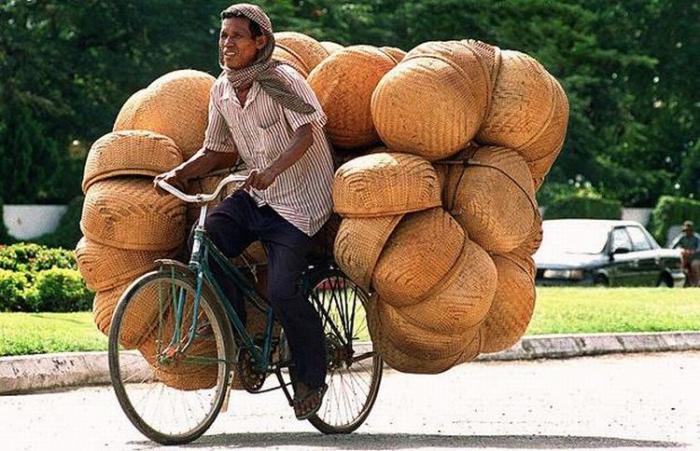 Перевозка груза велосипедом
