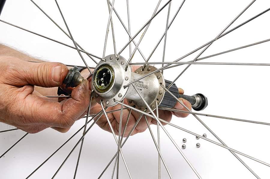 Разбор задней оси велосипеда