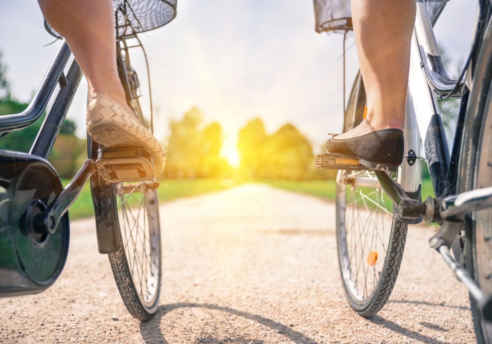 Велосипедная прогулка утром