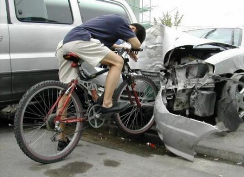 ДТП с пьяным велосипедистом