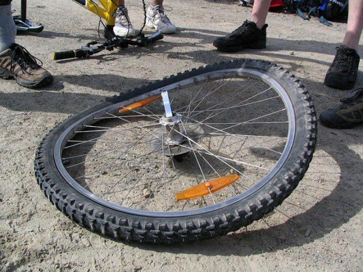 Восьмерка на горном велосипеде